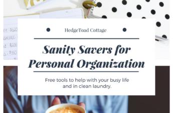 personal organization tools to enjoy life