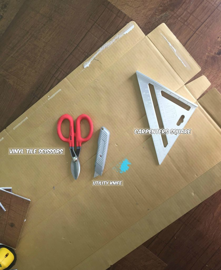 Reviving Old Floors Peel And Stick Vinyl Flooring HedgeToad Cottage - Tools needed for vinyl flooring
