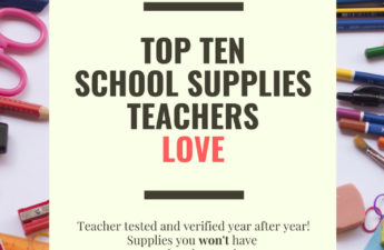 Top 10 School Supplies Teachers Love