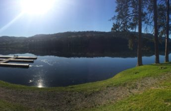 lake cabin view