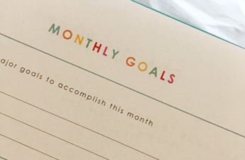 monthly goals planning